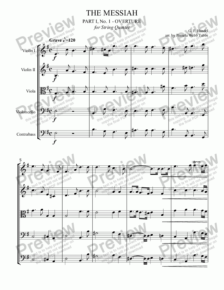 page one of Overture from