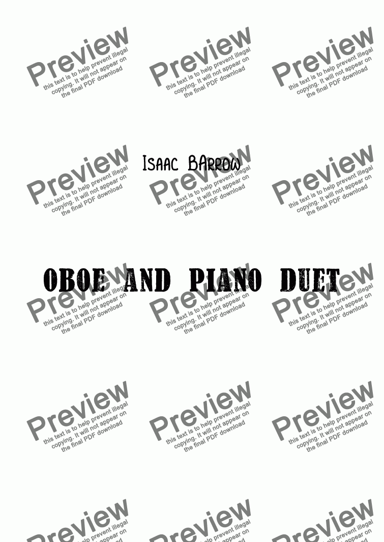 page one of Oboe and Piano Duet