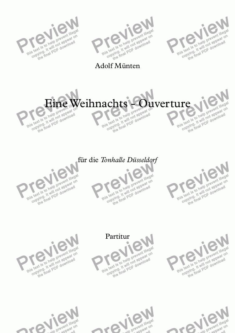 page one of Weihnachts-Ouverture