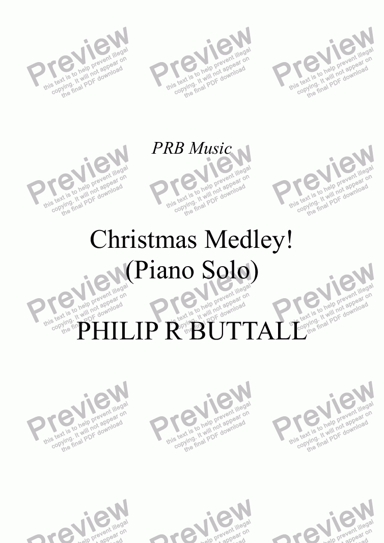 page one of Christmas Medley! (Piano Solo)