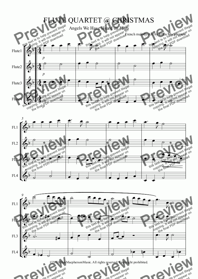 page one of FLUTE QUARTET @ CHRISTMAS