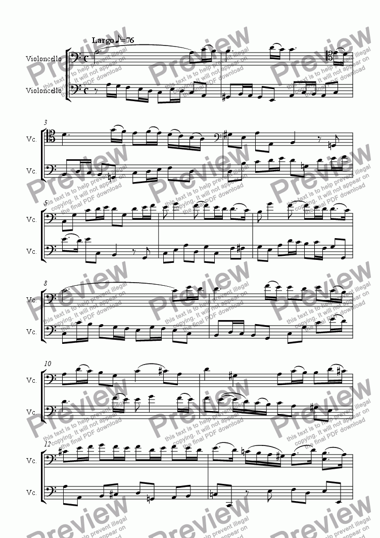 page one of duet sonata Op.4 No.7ASALTTEXT