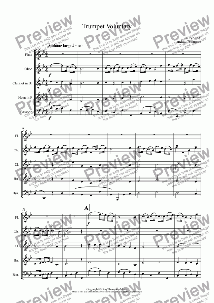 Wedding music for wind quintettrumpet voluntaryjohn stanley which method of viewing music should i use junglespirit Image collections
