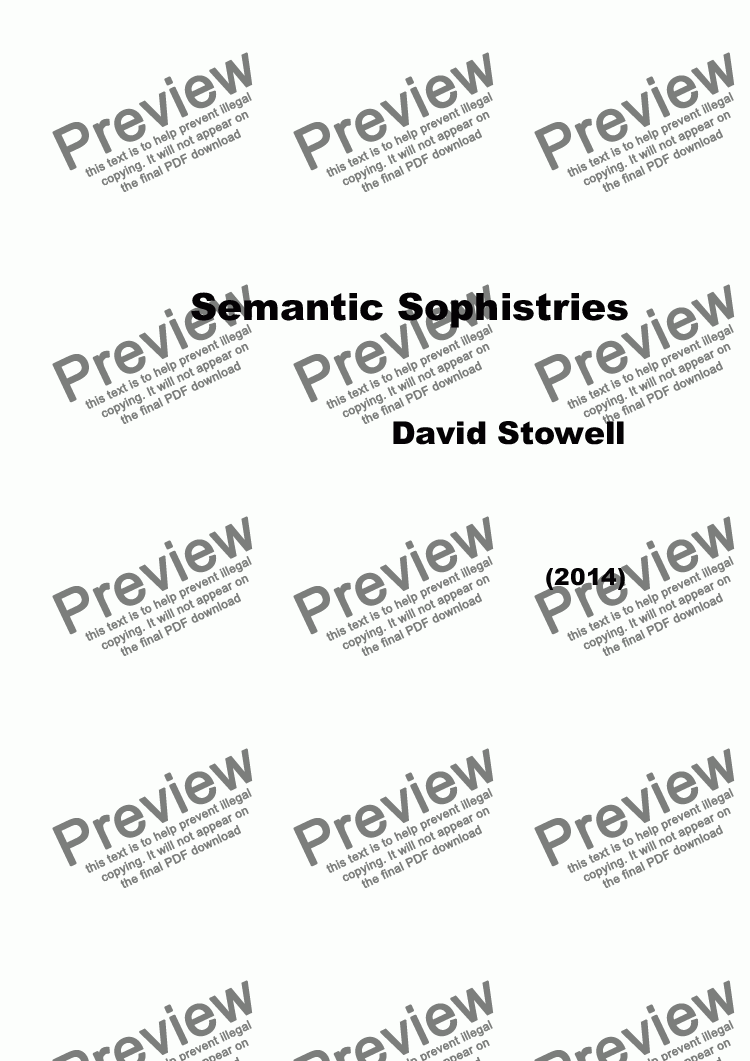 page one of Semantic Sophistries