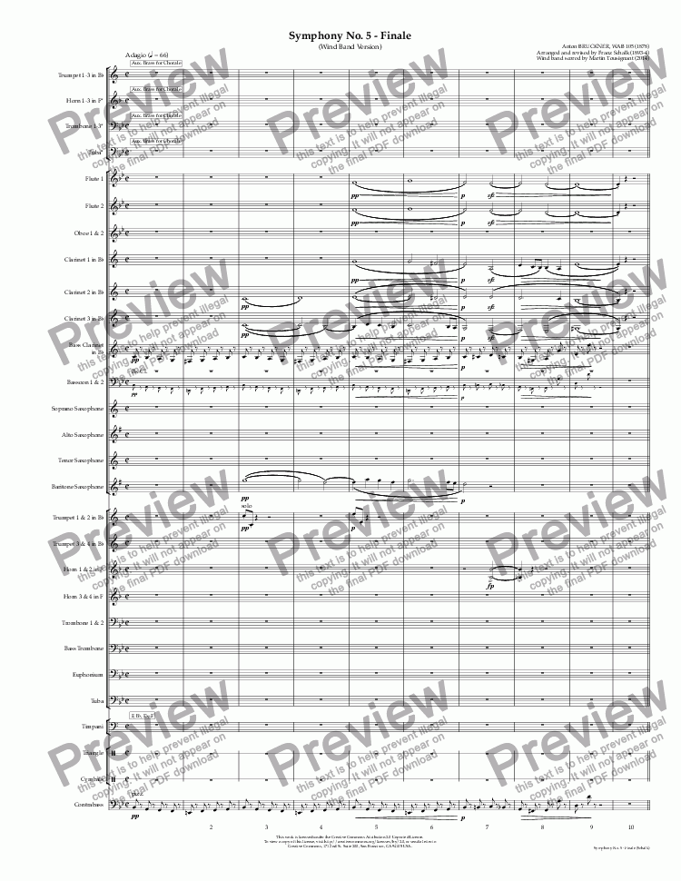page one of Symphony No. 5 - Finale