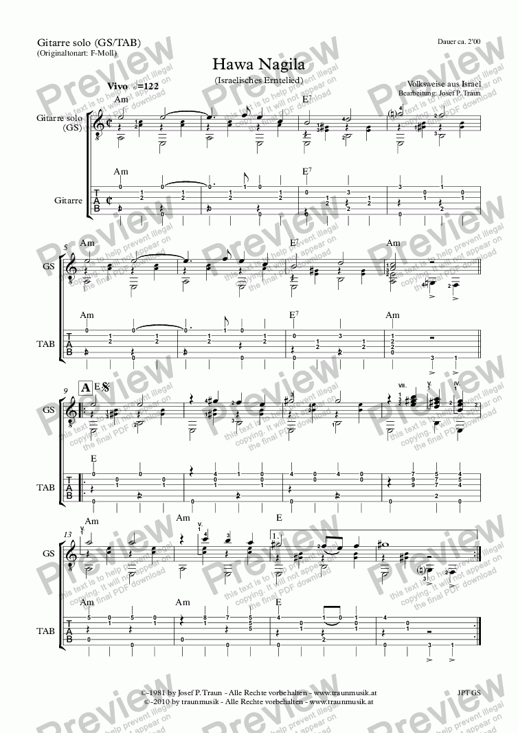 page one of Tanz (Rondo) (GS/TAB)