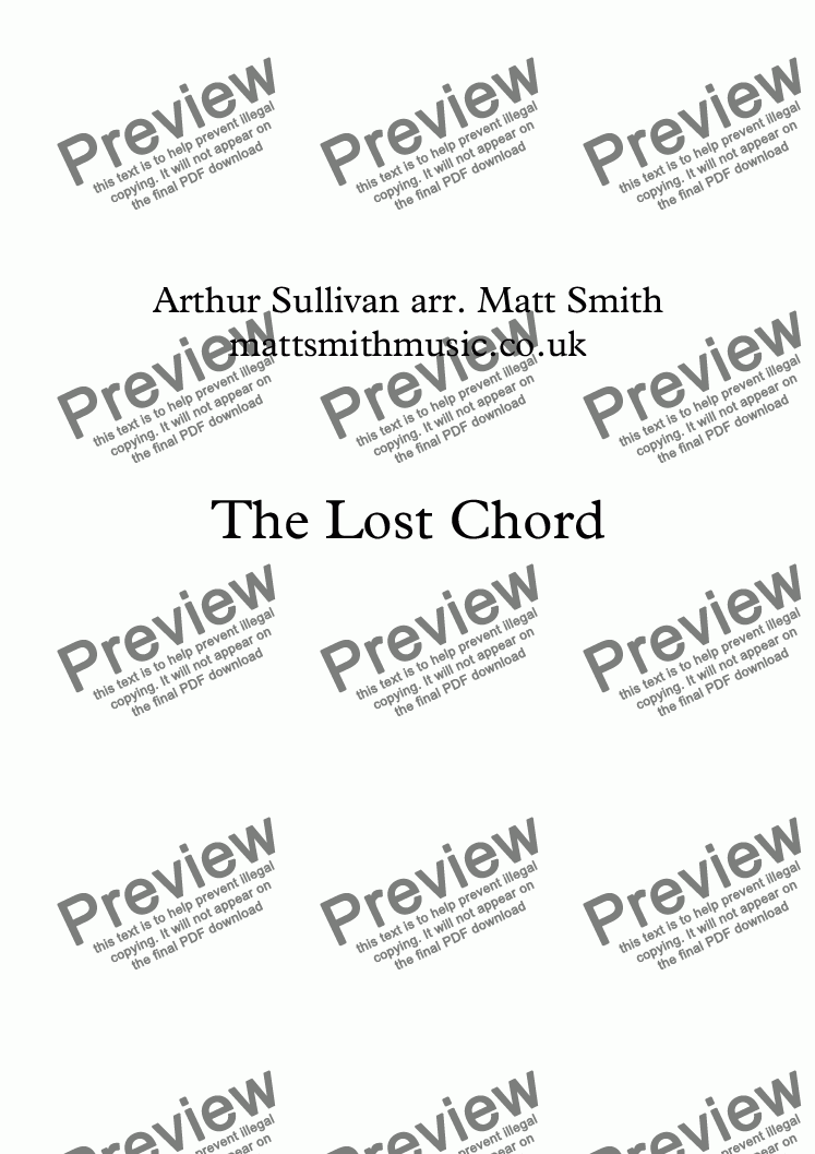 page one of The Lost Chord (Trombone Quartet)
