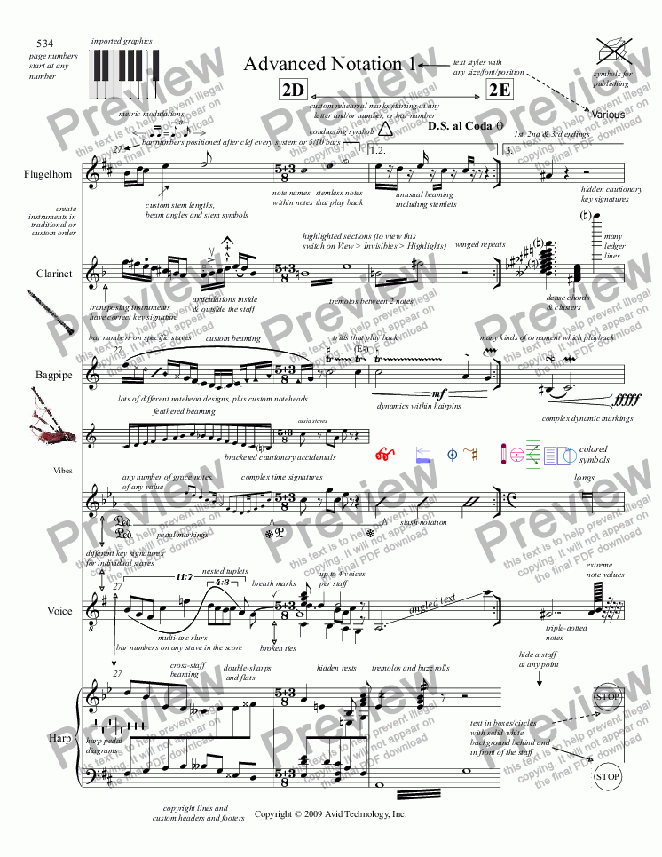 page one of Advanced Notation 1