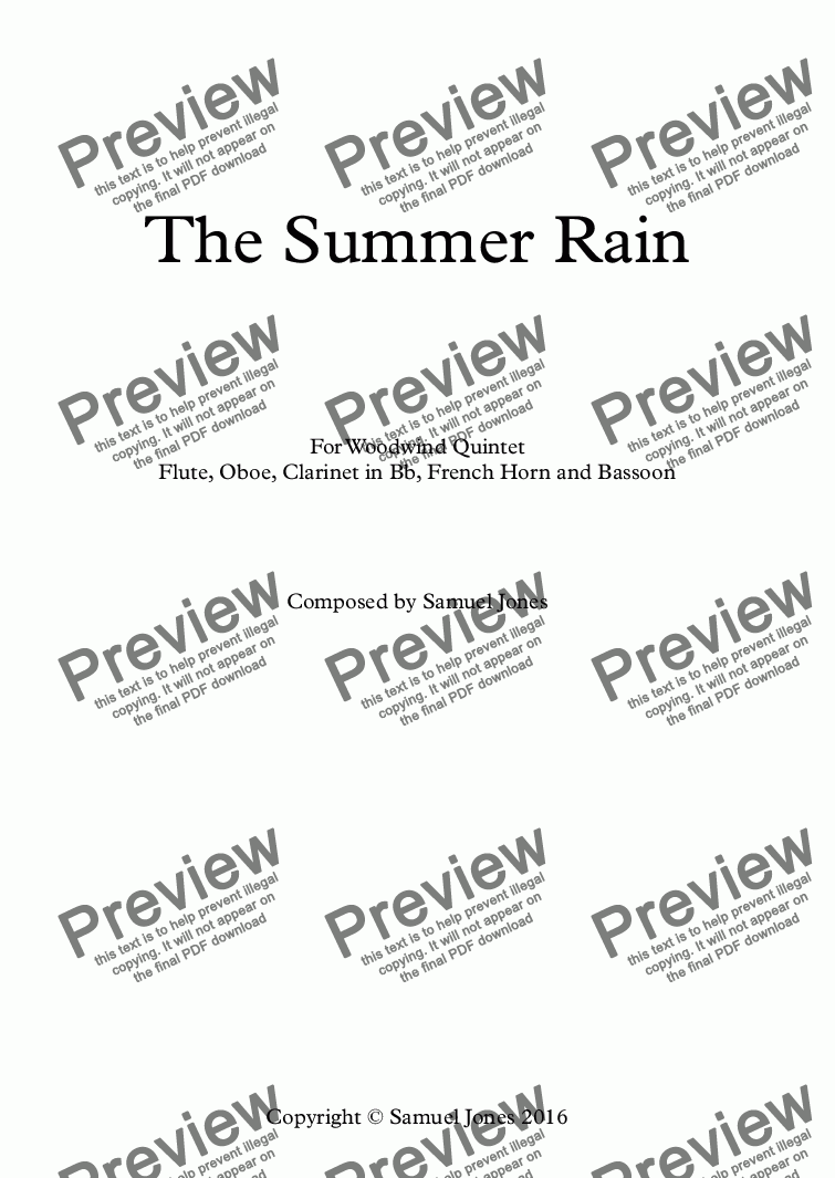 page one of The Summer Rain
