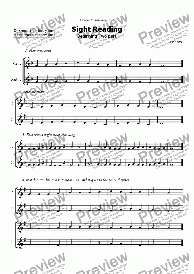 page one of 2pt Beginning