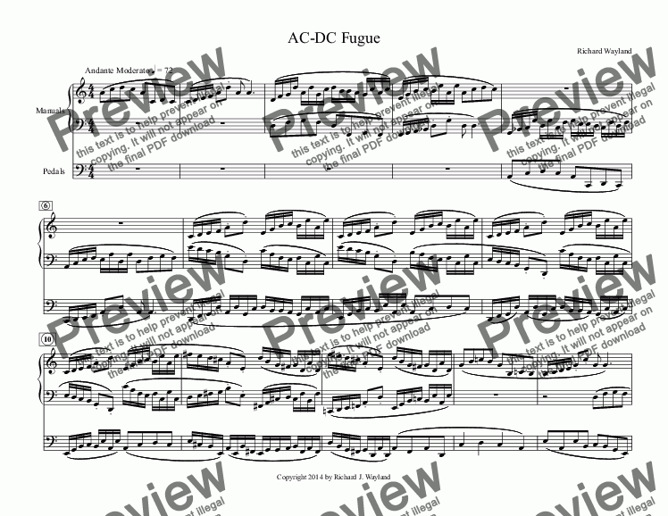 page one of AC-DC Fugue