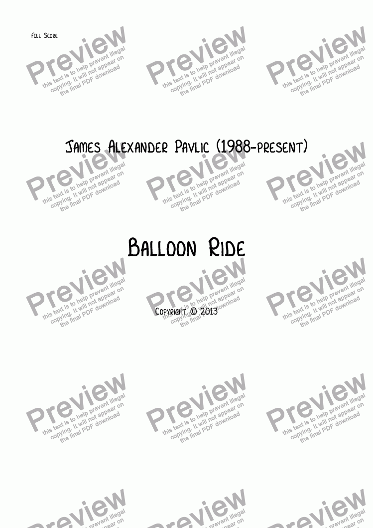 page one of Balloon RideASALTTEXT