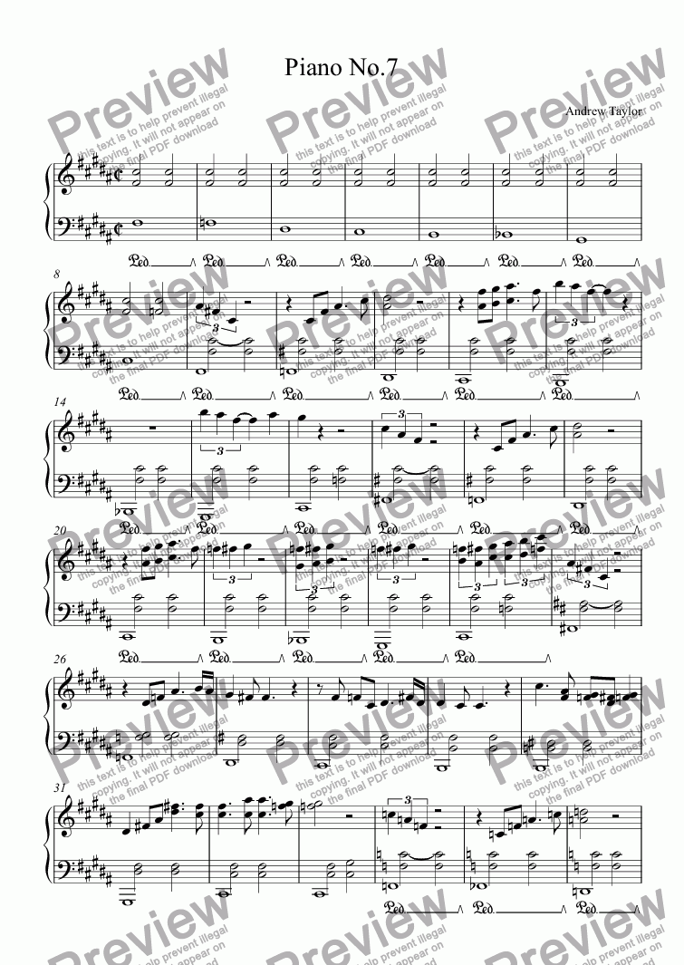 page one of Piano No.7