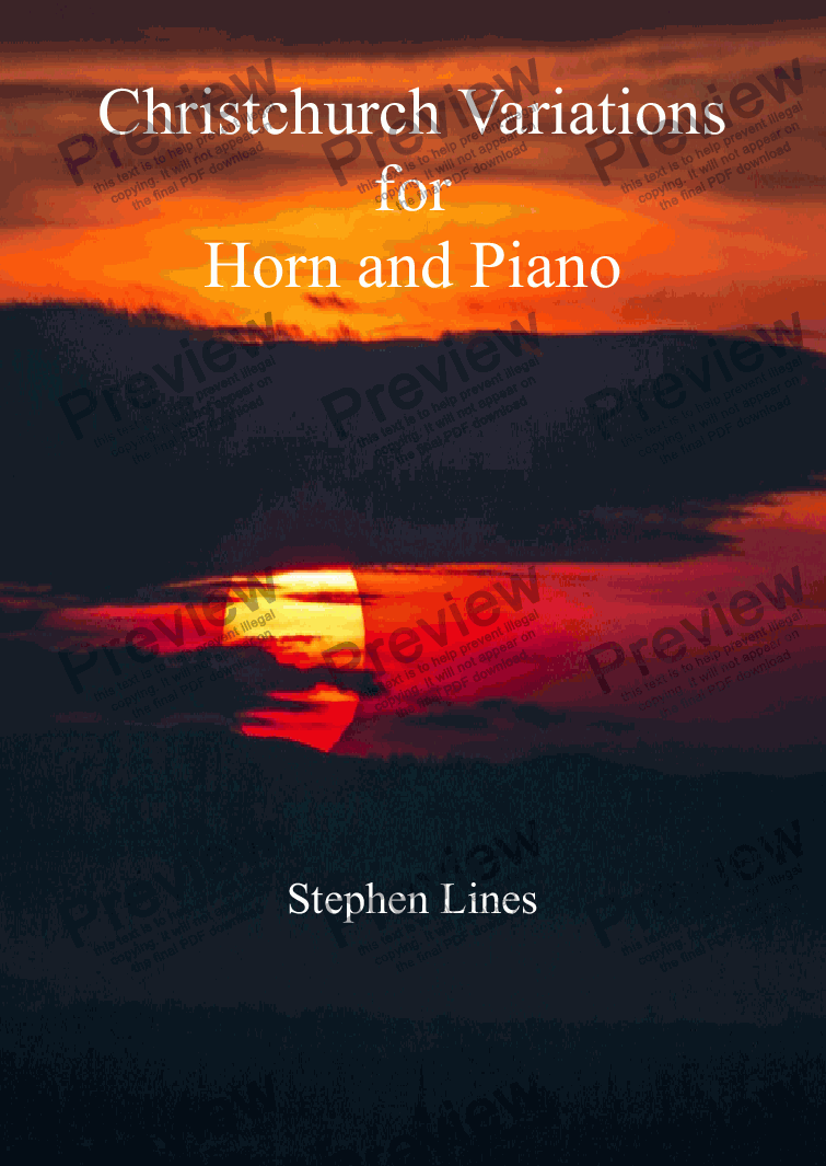 page one of Horn and piano: Christchurch Variations