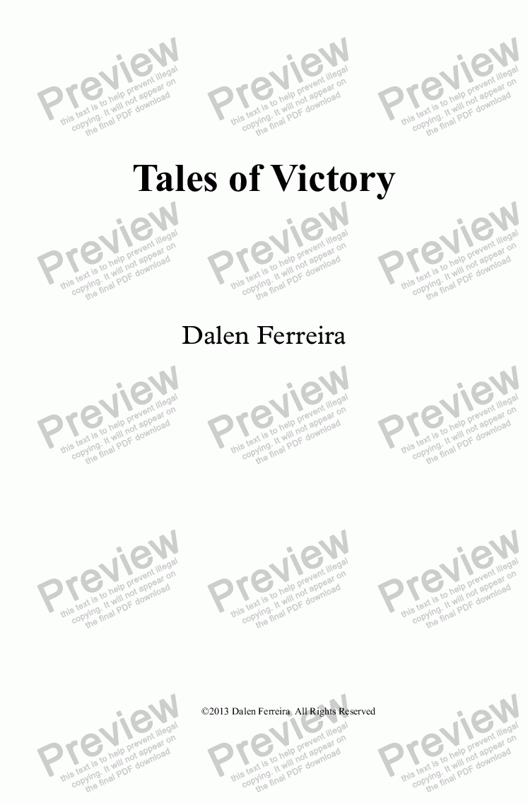 page one of Tales of Victory