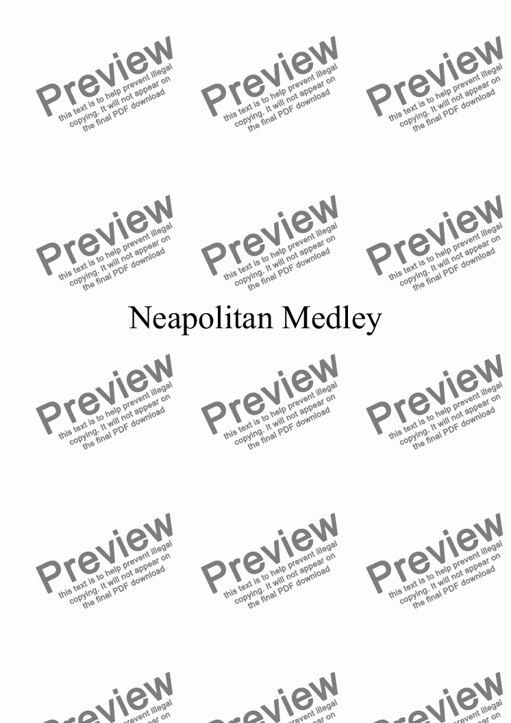 page one of Neapolitan Medley