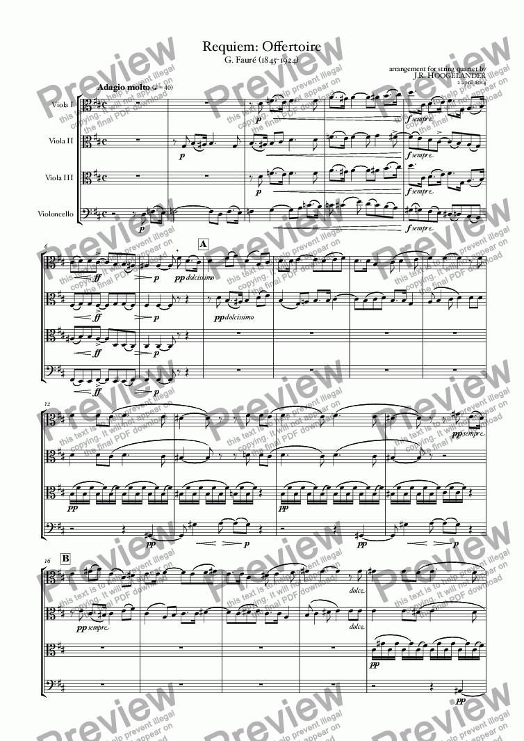 page one of Requiem: Offertoire