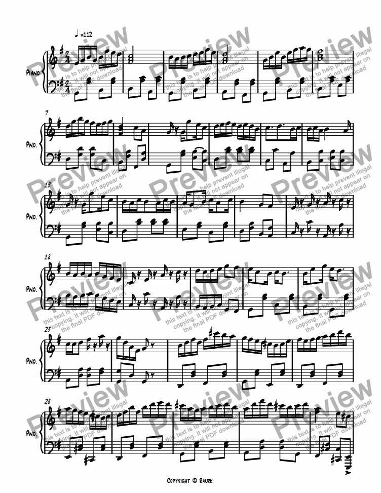 page one of Ragtime #124 in G Major, Op. 267