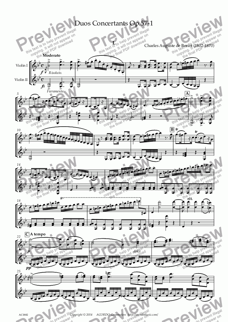 page one of Duos Concertants Op.57-1