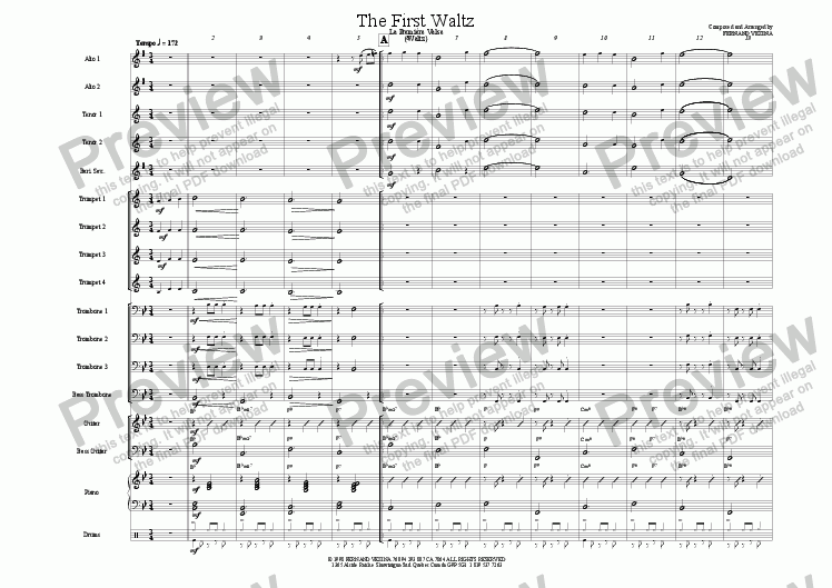 page one of The First Waltz
