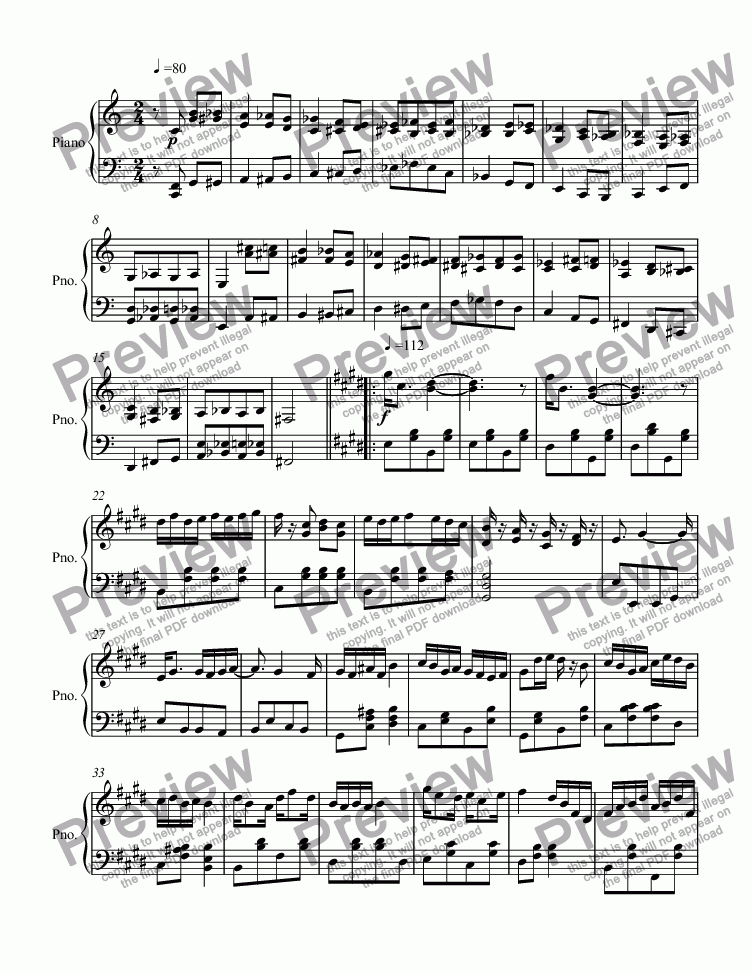 page one of Ragtime #129 in B Major, Op. 273