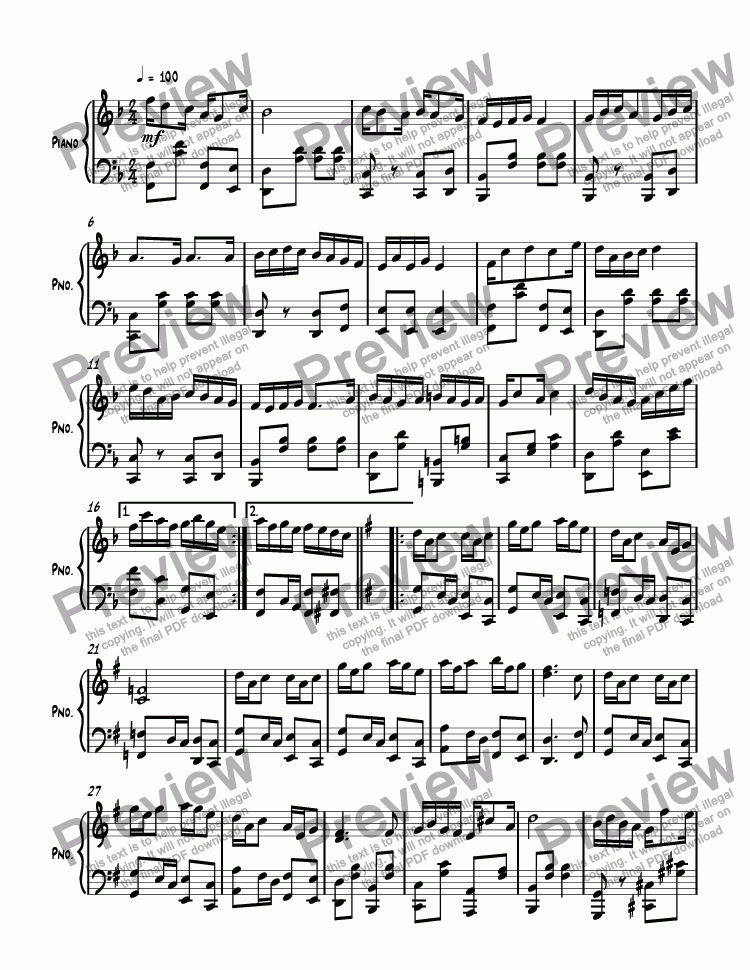 page one of Ragtime #132 in F Major, Op. 277