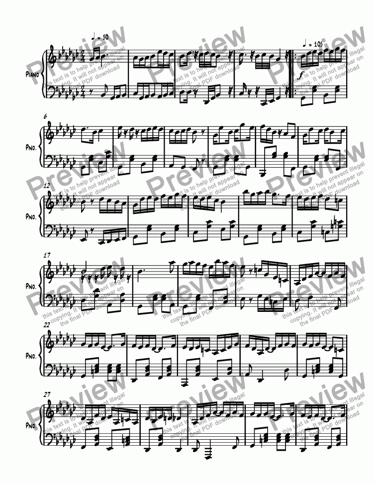 page one of Ragtime #142 in G Flat Major, Op. 296