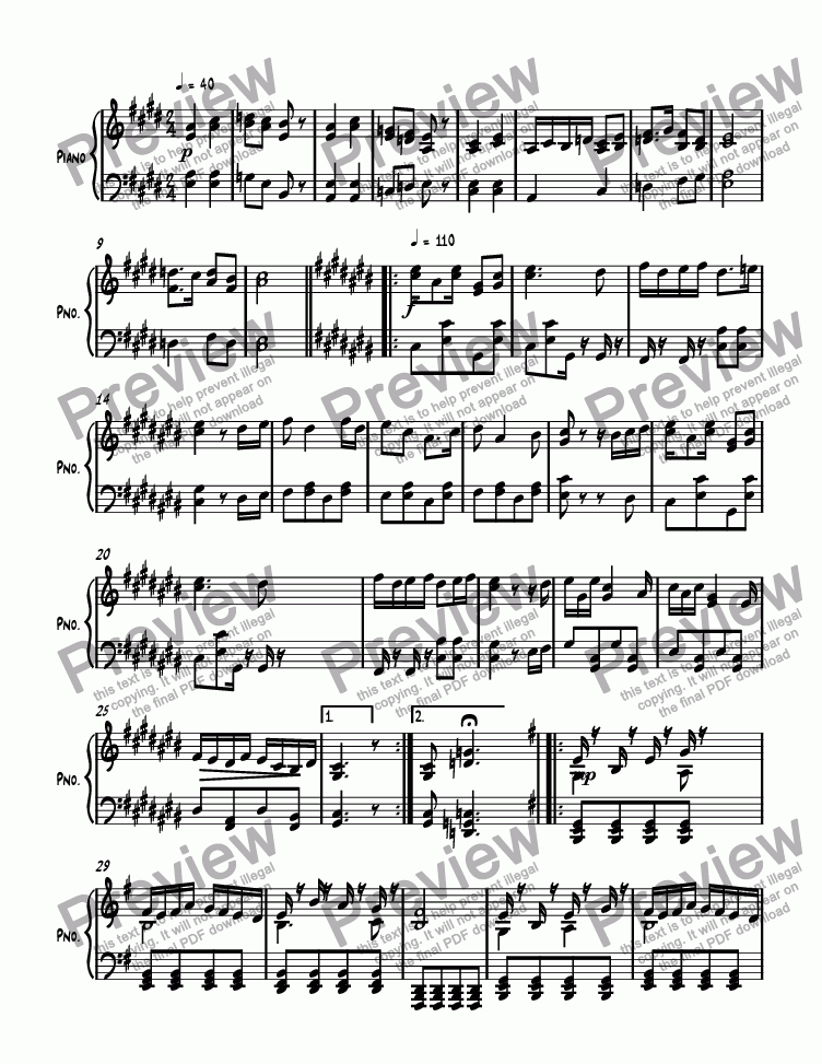 page one of Ragtime #144 in E Major, Op. 299