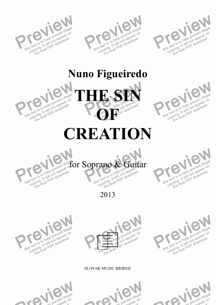page one of The Sin Of Creation