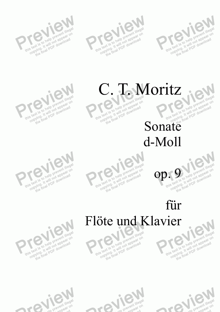 page one of Moritz, Flötensonate op. 9ASALTTEXT