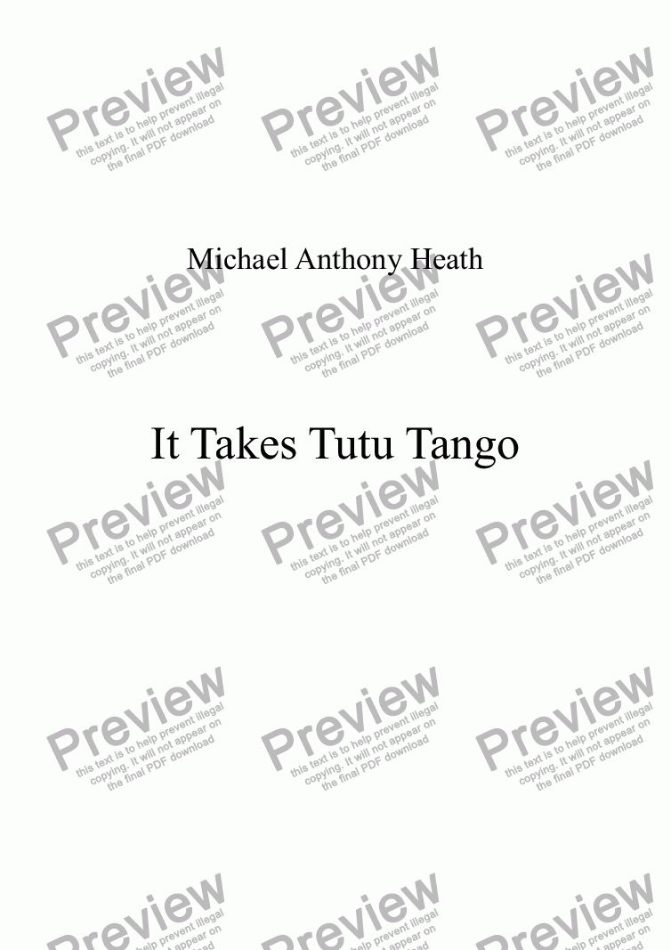 page one of It Takes Tutu Tango