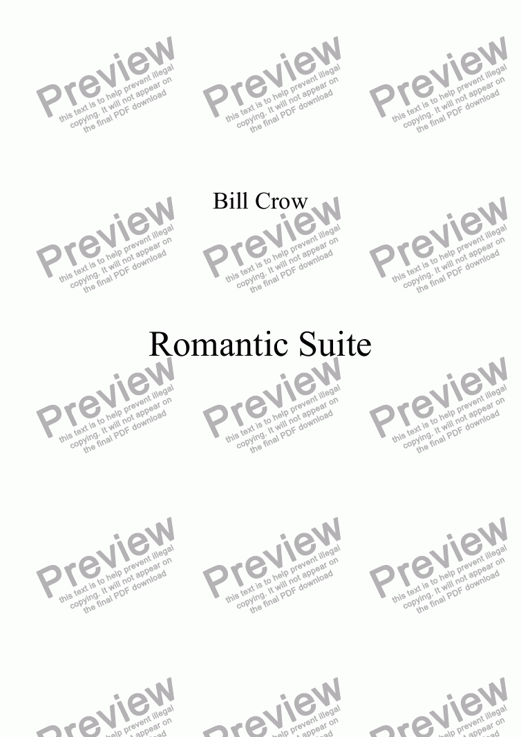 page one of Romantic Suite: 1