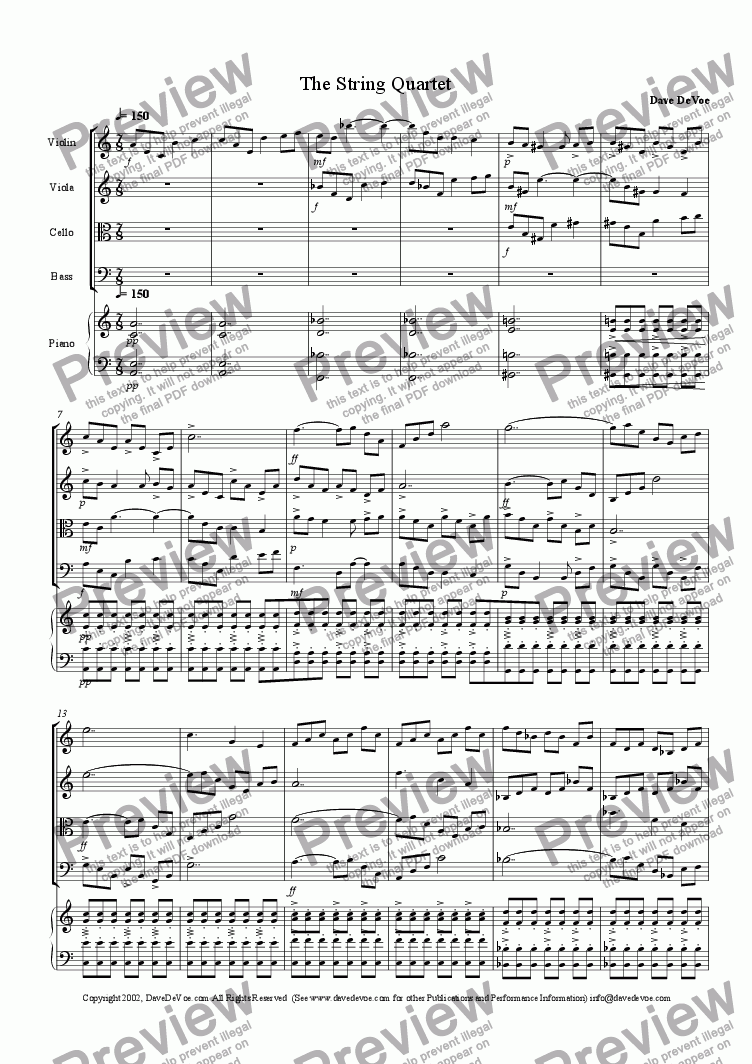 page one of The String Quartet