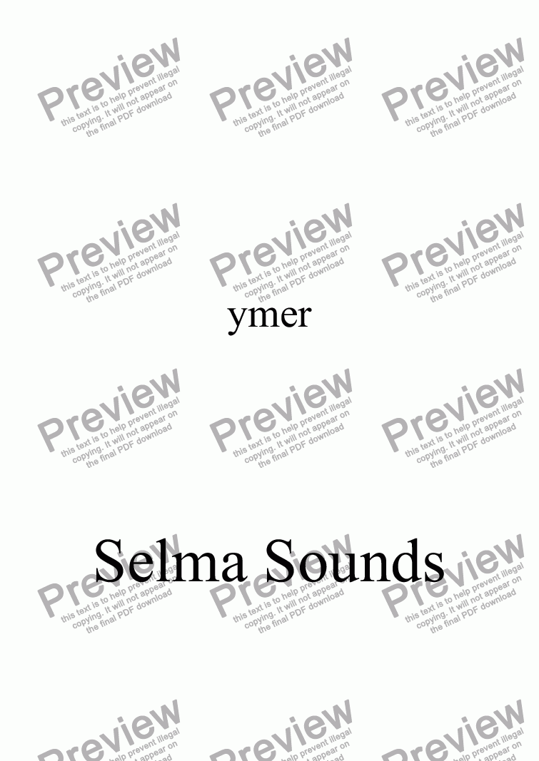 page one of Selma Sounds