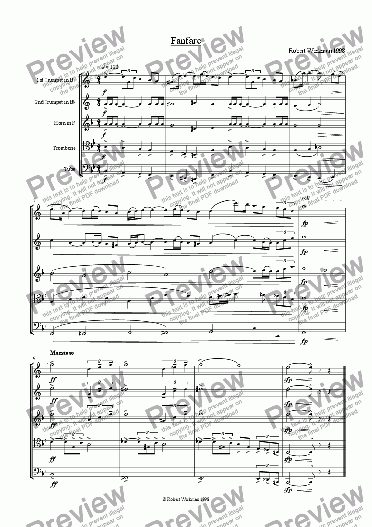 page one of Fanfare