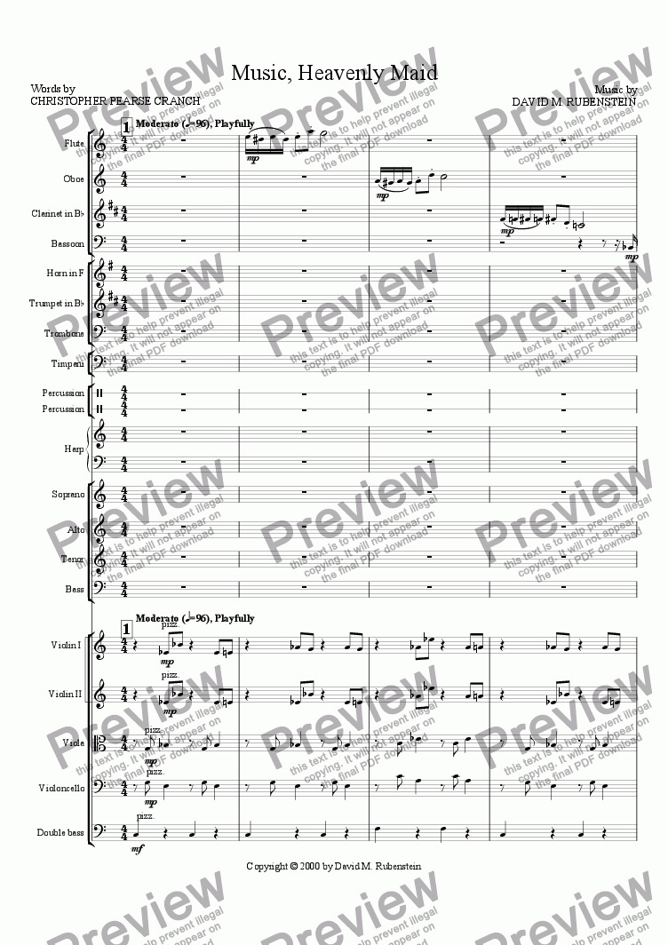 page one of Music, Heavenly Maid