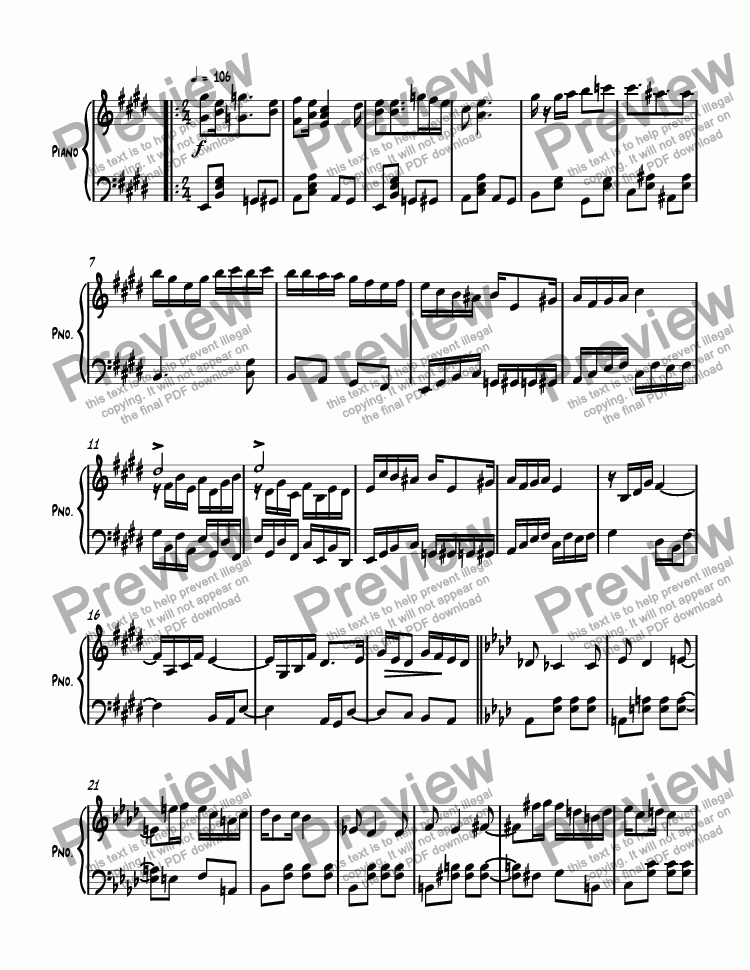 page one of Ragtime #147 in E Major