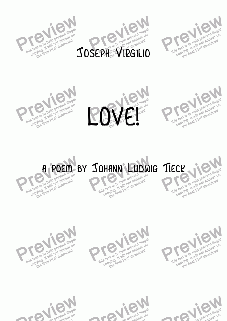 page one of :057 Opus: LOVE! (a poem by Johann Ludwig Tieck)ASALTTEXT