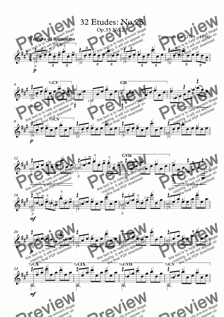 page one of 32 Etudes: No.25ASALTTEXT