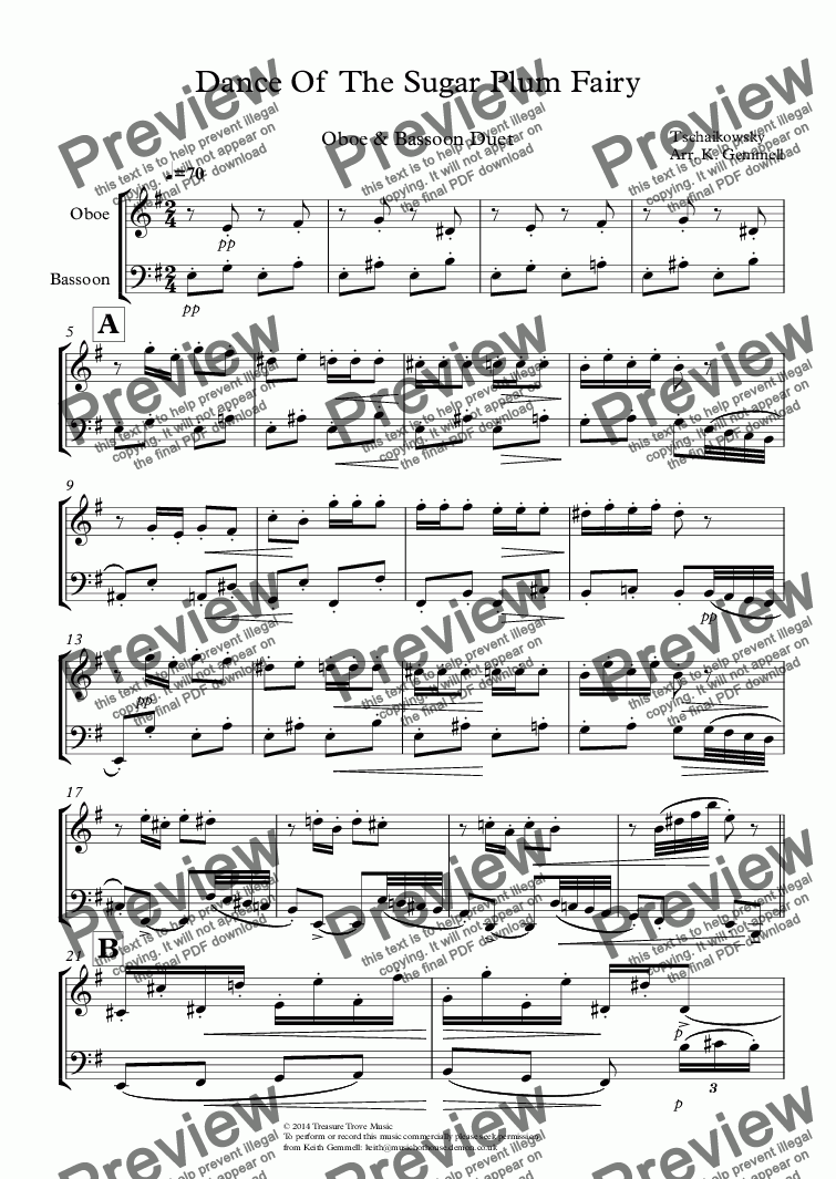page one of Dance Of  The Sugar Plum FairyASALTTEXT