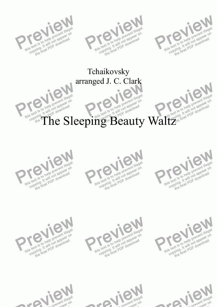 page one of The Sleeping Beauty Waltz