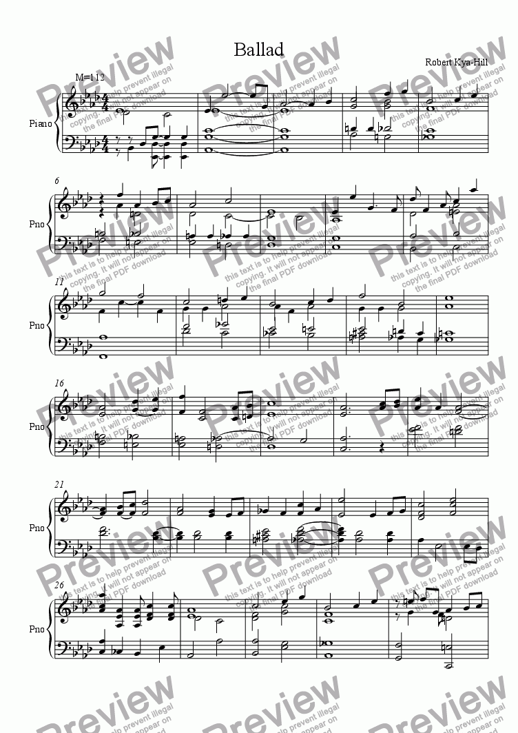 page one of Ballad