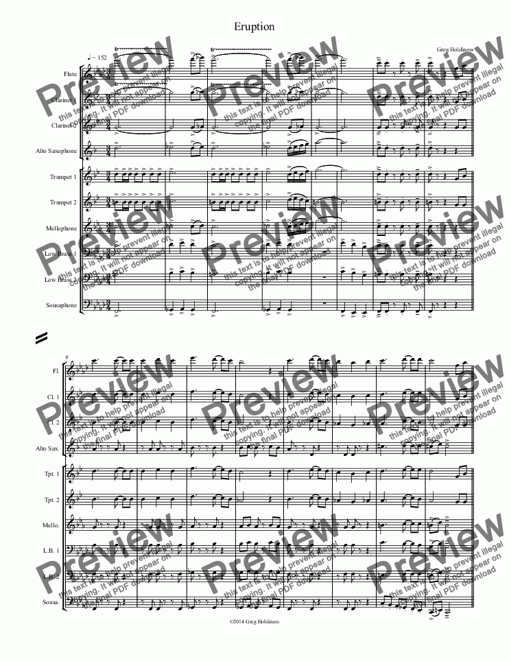 page one of Eruption