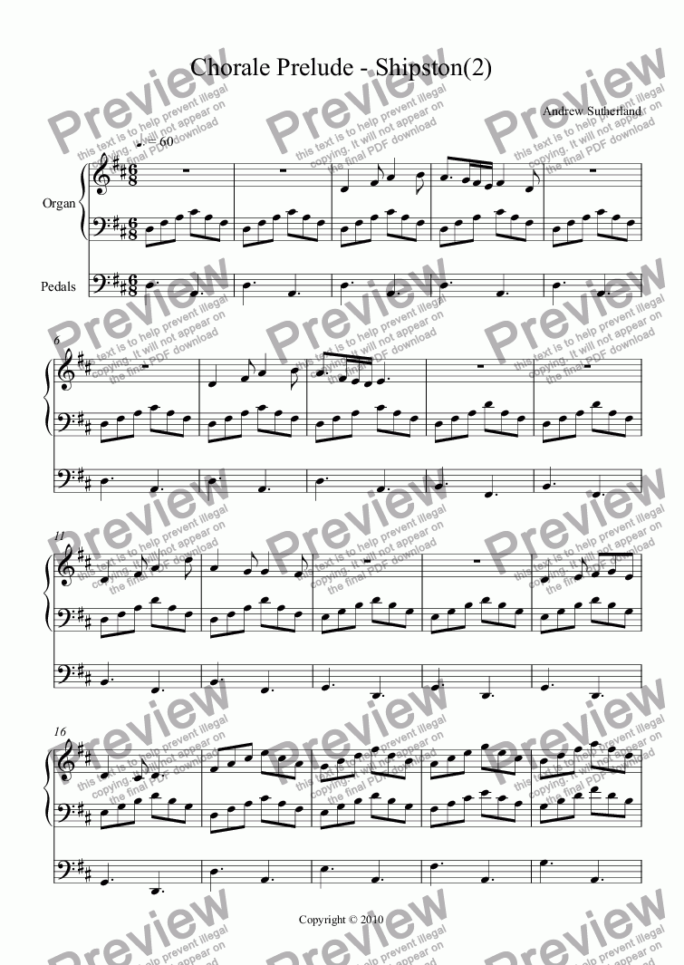 page one of Chorale Prelude - Shipston(2)ASALTTEXT