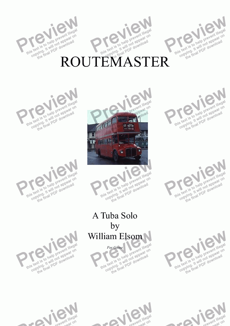 page one of (BRASS BAND) Routemaster