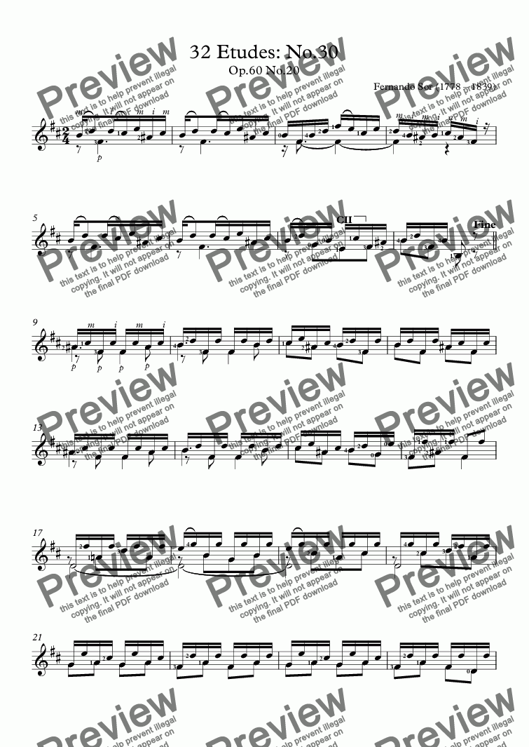 page one of 32 Etudes: No.30