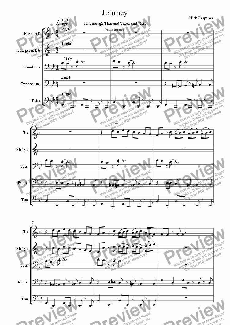 page one of Journey - Movement II