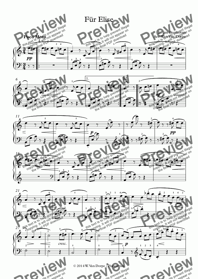 page one of Für Elise