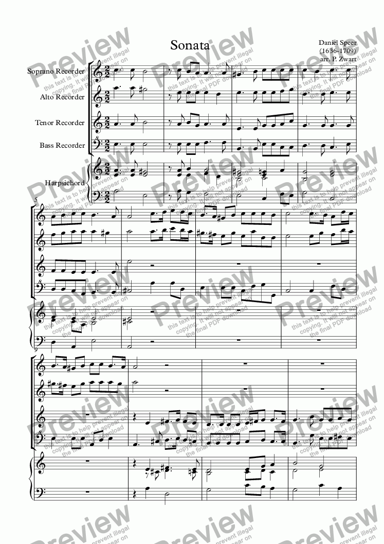 page one of Sonata (Speer)