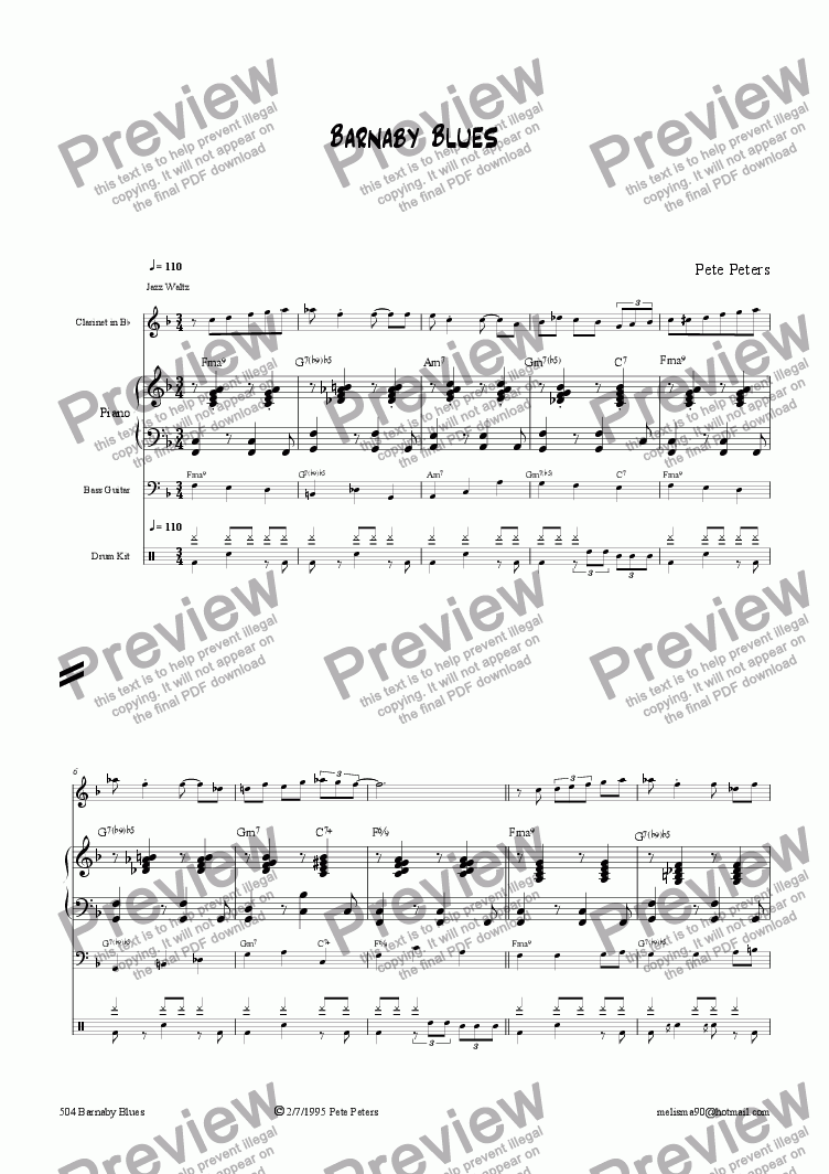 page one of Persuasion (Jazz 4tet)
